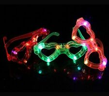 LED Light-Up Flashing Shutter Retro Glasses Party Shades for kids Heart