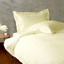 Hotel Bedding Items 1200 TC New Egyptian Cotton UK-Single Size Ivory Solid