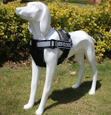 Dog Safety Non Pull Padded Reflective Dog Harness Removable Chest Plate & Patch