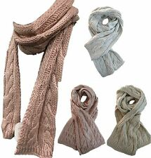 New Womens'  Girls' Scarf  Winter Knitted CA Cable Neck Warmer Wrap Winter Shawl