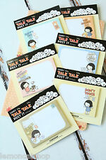 kawaii Cookys Girl TALK TALK sticky notes memo pad to do list planner diary note