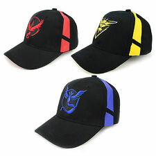 Pokemon Go Baseball Black Hat Team Mystic InstInct Valor Embroidery Cap New