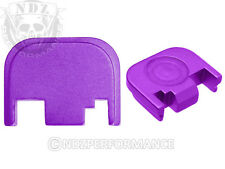 Fits Glock 17 19 21 22 23 27 30 34 36 41 Slide Plate Purple With Lasered Images