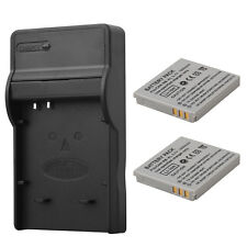 2 x 1000mAh NB-4L Battery Pack + Charger For Canon IXUS 40 50 55 60 65 80 100