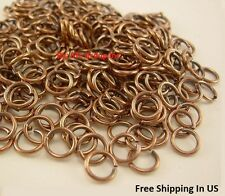 14 Ga Solid Copper Antique Round Open Jump Ring (Pack Of 1 Oz)  Saw Cut /  USA
