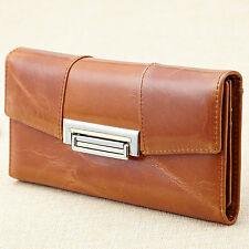 Women Genuine Leather Wallet Cowhide Purse Folding Wallets Luxury Coin Purse