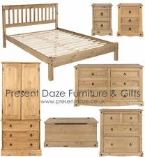 Premium Corona Solid Pine Mexican Style Bedroom Furniture with Rustic Finish