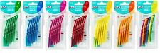 TePe Angled Interdental Brushes in Various Colours and Sizes – Pack of 6 Brushes