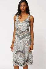 Ladies Casual Abstract Print Sleveless Summer Dress Womens Loose Party Dress