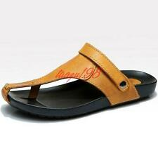 Summer Mens gladiator flip flops leather sandal slipper beach fisherman shoes