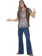 Orion Hippie Mens 1960s 60s Costume 1970s 70s Hippy Funny Party Fancy Dress