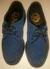 Blue Suede Creepers UK 3 4 6   Rockabilly Punk Psychobilly Ska Indie Cosplay 50s