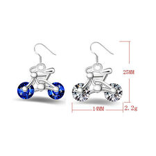Crystal Earring Jewelry New Earring Gift Women Design Bike 1Pair Bicycle