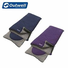 Outwell Contour Junior Sleeping Bag Camping Sleeping Bag Choice of Colours