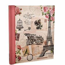 "Vintage Travel Photo Album 200 4x6"" 120 5x7"" 500 4x6"" Photos or Self Adhesive"