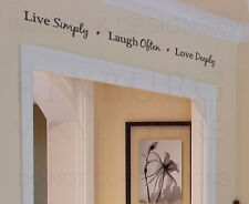 Wall Decal Art Sticker Quote Vinyl Lettering Decorative Live Simply Love H13