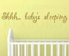 Wall Decal Sticker Quote Vinyl Art Lettering Letter Baby's Sleeping Nursery B10