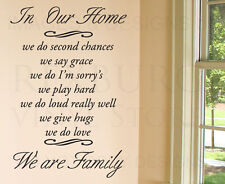 Wall Decal Quote Sticker Vinyl Art Lettering Letter In Our Home Family Love F70