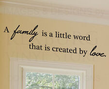 Wall Decal Sticker Quote Vinyl Art Removable Family is a Little Word Love F29