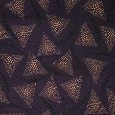 Quilt Fabric Quilting Cotton Calico Purple Triangles: Fat Quarter 17x20