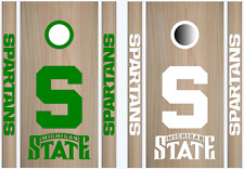Michigan State Cornhole Bean Bag Toss Vinyl Decal Set - 8pcs - Multiple Colors