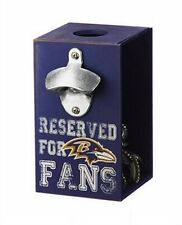 Officially Licensed Baltimore Ravens Team Bottle Opener Caddy