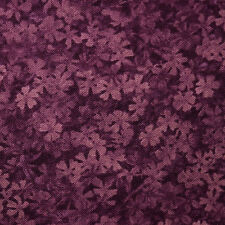 Quilt Fabric Calico Deep Purple Tonal Floral--Color Collage: FQ or Cut-to-Order
