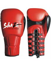 Top Quality Shaza Everlast New Lace Up Boxing Gloves Genuine Cowhide leather