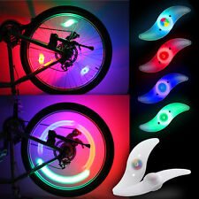 2X Flashing Bike Light Bicycle Cycling Spoke Wire Tire Tyre Silicone LED Wheel R