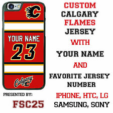 Custom CALGARY FLAMES Hockey Jersey phone Case Cover for iPhone 6 6 PLUS 5 4