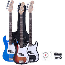 New ZTDM Electric P Bass Guitar w/Bag Strap Extra Strings Cord Pick Tools