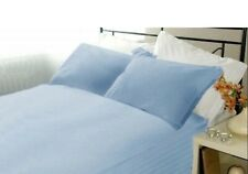 Extra Deep PKT Bedding Items 1000TC Egyptian Cotton Queen-Size Sky Blue Striped