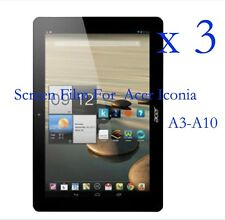 3 Glossy Matte LCD Screen Protector Guard Film Cover F Acer Iconia A3-A10 10.1""