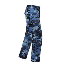 Blue Camo BDU Cargo Pants Titans KC Royals Colts Panthers Giants UNC LA Dodgers