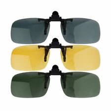 TOP Clip-on Lens Polarized Day Night Vision Driving Glasses Sunglasses Eyewear P