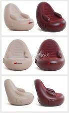 Inflatable Electric Massage Recliner Chair Sofa Body Head Foot Massage Beige Red