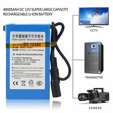 4800MAH DC 12V Super Large Capacity Rechargeable Li-ion Battery For Camera CH