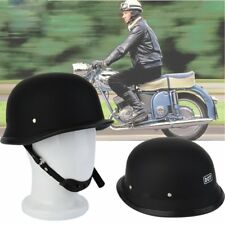 Matte Black German Style Vintage Motorcycle Helmet Half Face German Helmet SH