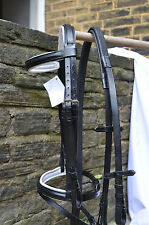 COB SIZE NEW BLACK QUALITY LEATHER COMFORT BRIDLE WITH WHITE PADDING.RRP:£49