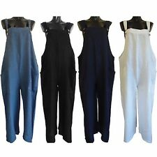 Womens Italian Lagenlook Overall Playsuit Linen Jumpsuit Harem Pants Boho Dress