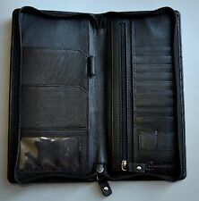 REAL LEATHER Passport Holder Travel Wallet Organiser + Luggage tag , Handcrafted
