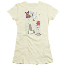 DOTS COLLAGE Licensed Juniors Cap Sleeve T-Shirt