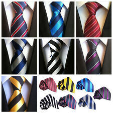 Fashion Striped Polyester Tie Men Necktie Classic Neck Tie Business Formal Party