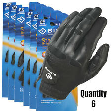 6 x Men's BIONIC StableGrip Golf Gloves/New with Natural Fit. Black -Left Hand