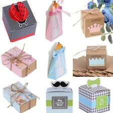 50x Paper Gift Candy Boxes Baby Shower Baby Birthday Party Favors