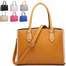 Ladies Stylish Fx Leather Style Handbag Structured Shoulder Bag Grab Bag MA34852