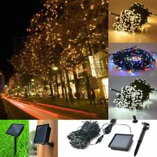 200 LED Solar Powered Fairy String Lights Garden Christmas Party Lamp LOT CL