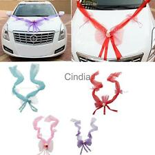 Wedding car Decorations kit Big Ribbons Flower Bows Decorations