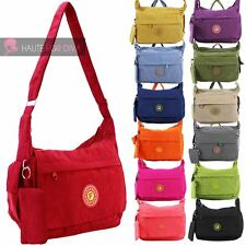 LADIES NEW NYLON WATERPROOF EXTRA COIN PURSE FESTIVAL SHOULDER MESSENGER BAG