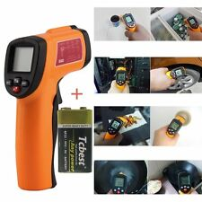 Digital Infrared Thermometer Non-contact LCD IR Laser Tester With Battery TOP CE